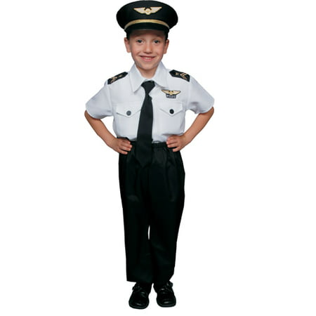 Boys Airline Pilot Fun Halloween Costume - Airline Pilot Halloween Costume