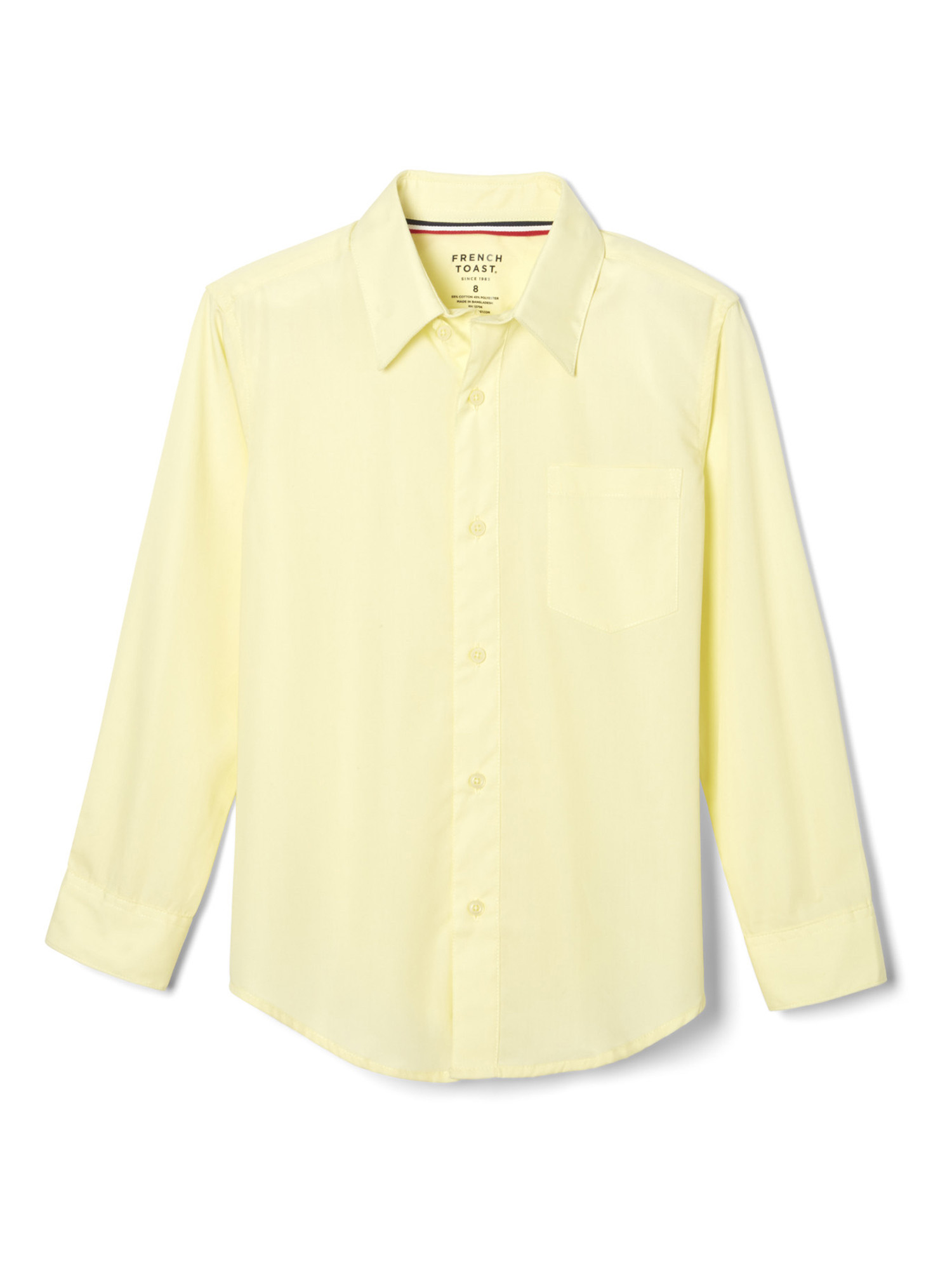 Big Boys Ivory Tie Long Sleeve Button Special Occasion Dress Shirt