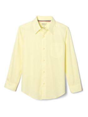 French Toast Boys School Uniform Long Sleeve Classic Button-Up Dress Shirt, Sizes 4-20 & Husky