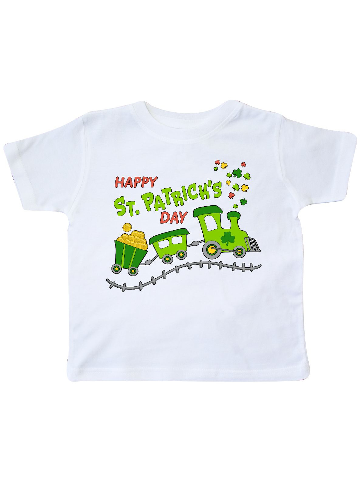 Happy St. Patrick's Day shamrock train Toddler T-Shirt