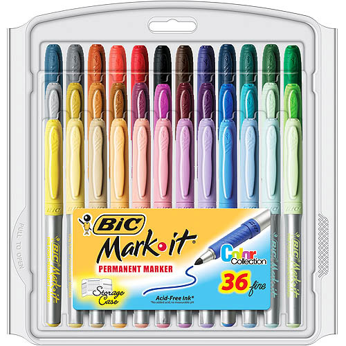 BIC Marking Permanent Marker Fashion, Fine Point, 36-Count, Assorted