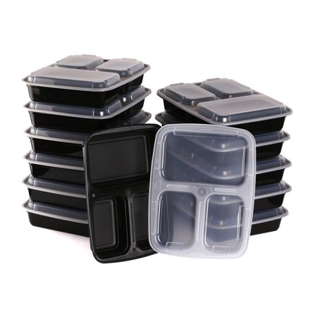 Halloween Bento Box (Estilo 3 Compartment Microwave Safe Bento Food Container with Lid (12)