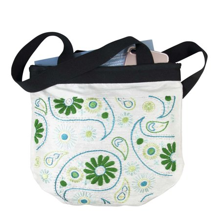 Paisley Embroidery - Herrschners® Silk Paisley Bag-Ivory Stamped Embroidery
