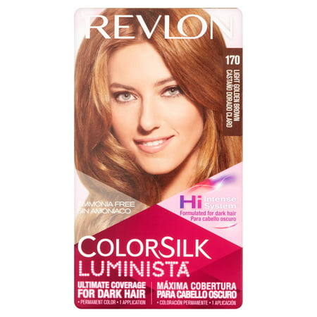 Revlon colorsilk luminista 170 light golden brown permanent color, 1 application