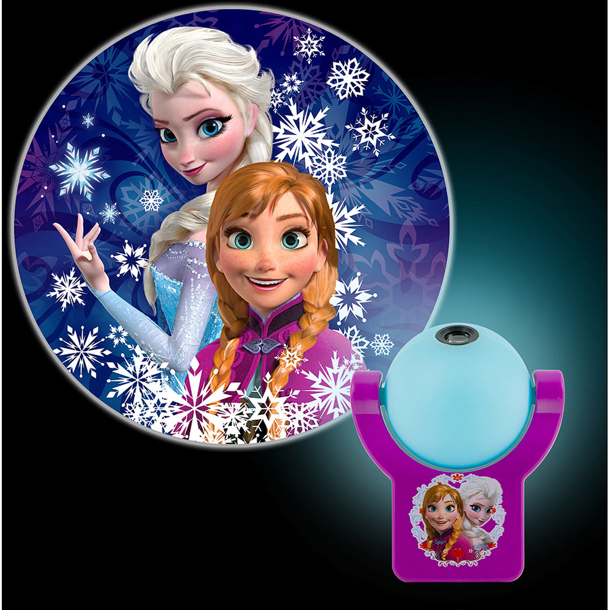 LED Projectable Disney Frozen Nightlight with Auto On/Off