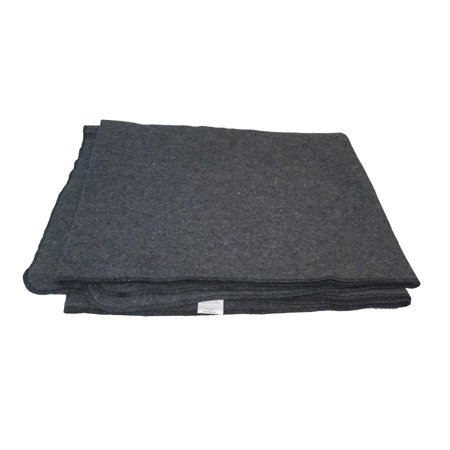 Us Military Specs - Military Spec Wool Blanket, US Made, 80/20, 66 x 84, Gray