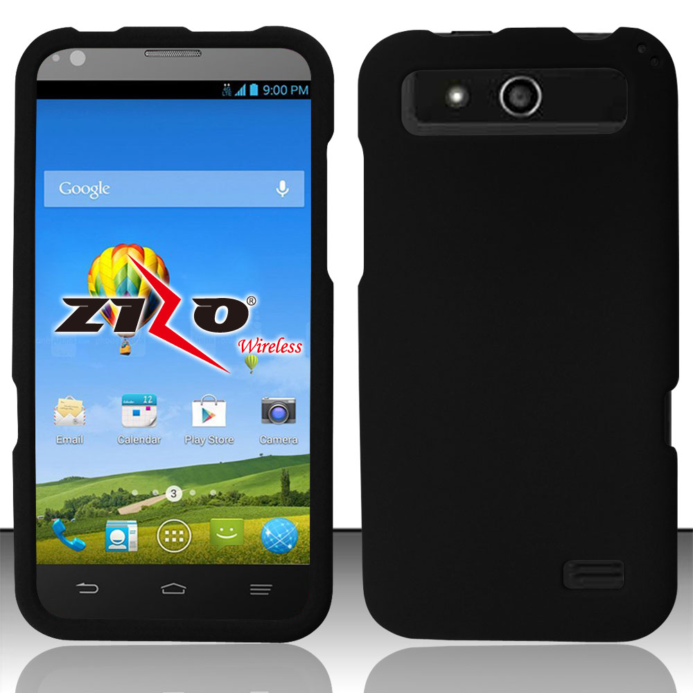 For ZTE Speed N9130 (Boost) Rubberized Hard Snap-on Cover - Black RP