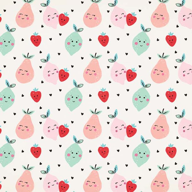 "Cute Pear - American Crafts Holiday/Event Single-Sided Cardstock 12""X12"" (25/pack)"