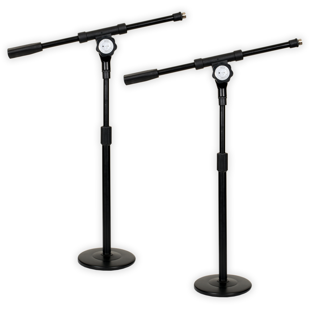 Podium Pro MS4 Tabletop Boom Microphone Stands Adjustable DJ Podcast Kick Drum Mic 2 Stand... by Podium Pro Audio, Inc.