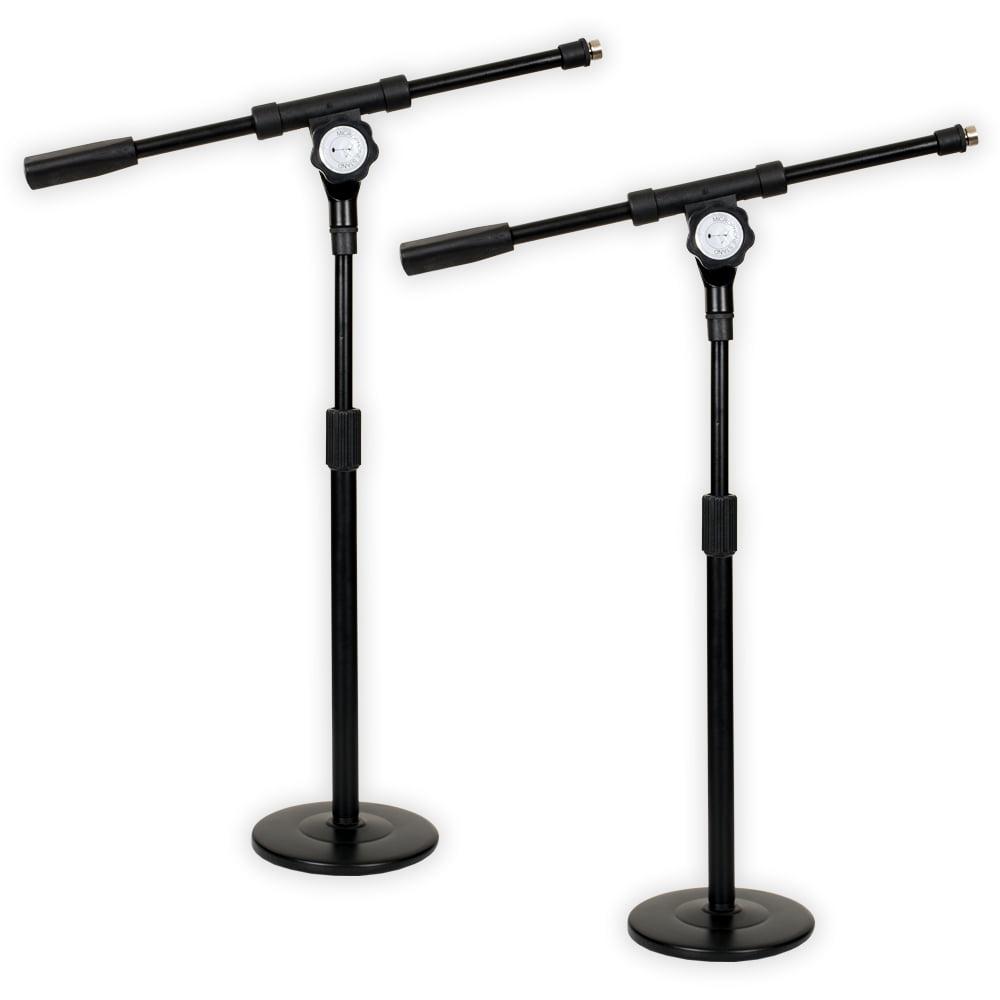 Podium Pro MS4 Tabletop Boom Microphone Stands Adjustable DJ Podcast Kick Drum Mic 2 Stand... by Podium Pro Audio, Inc.