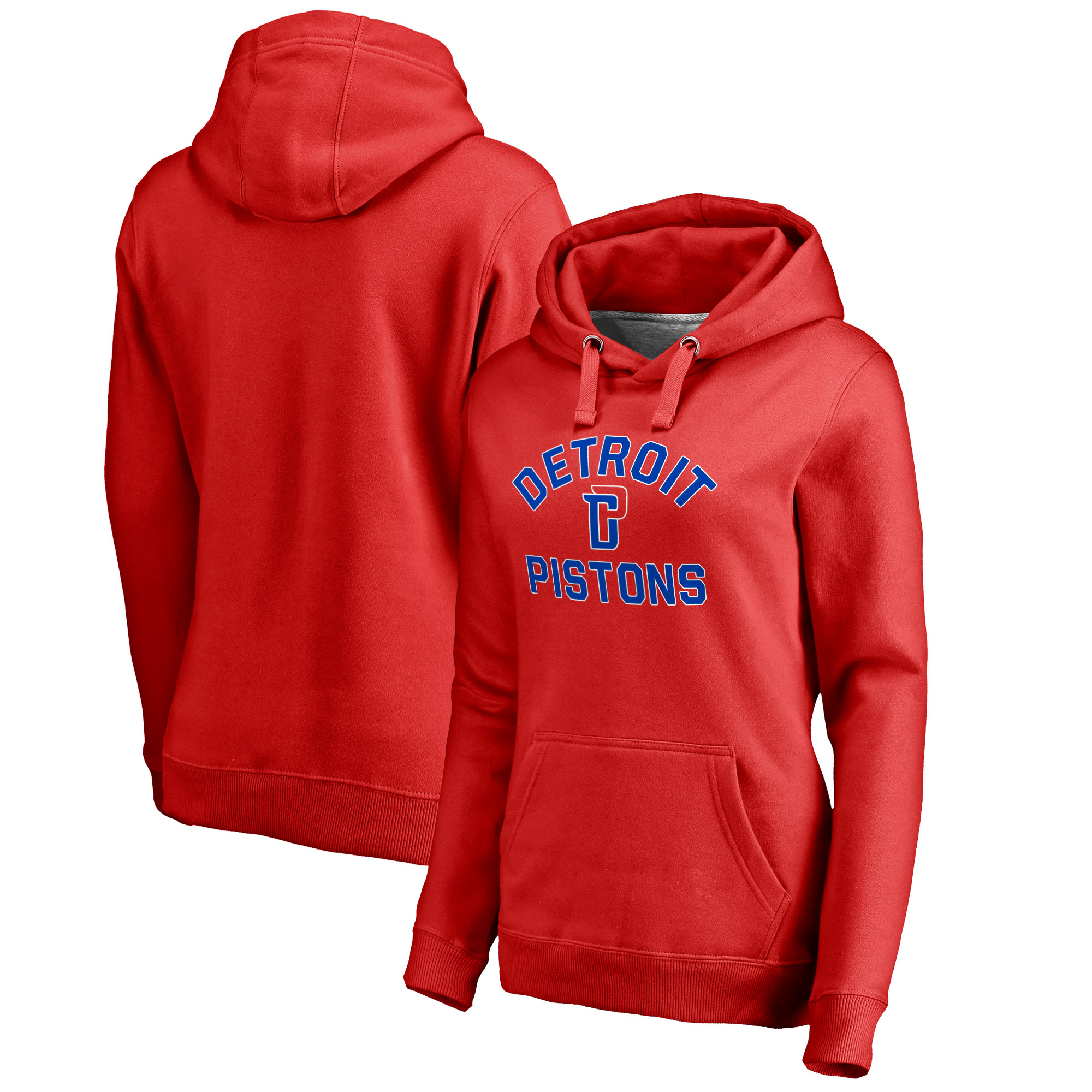 Detroit Pistons Fanatics Branded Women's Plus Size Overtime Pullover Hoodie - Red