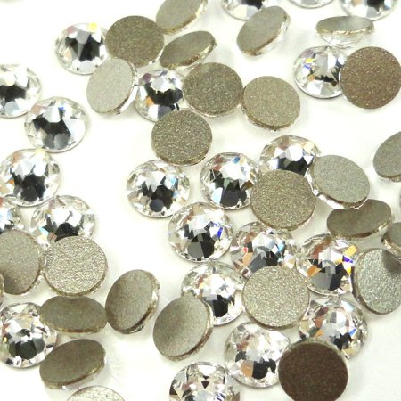 Swarovski 144 pieces Crystal (001) NEW 2088 Xirius ss16 round Flat backs Rhinestones 4mm 1 gross Zipperstop