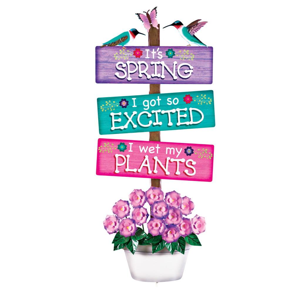 Novelty Springtime Sign Garden Decor Yard Stake, Multi