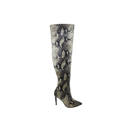Guess Women's Shoes Baylie Fabric Pointed Toe Over Knee Fashion Boots