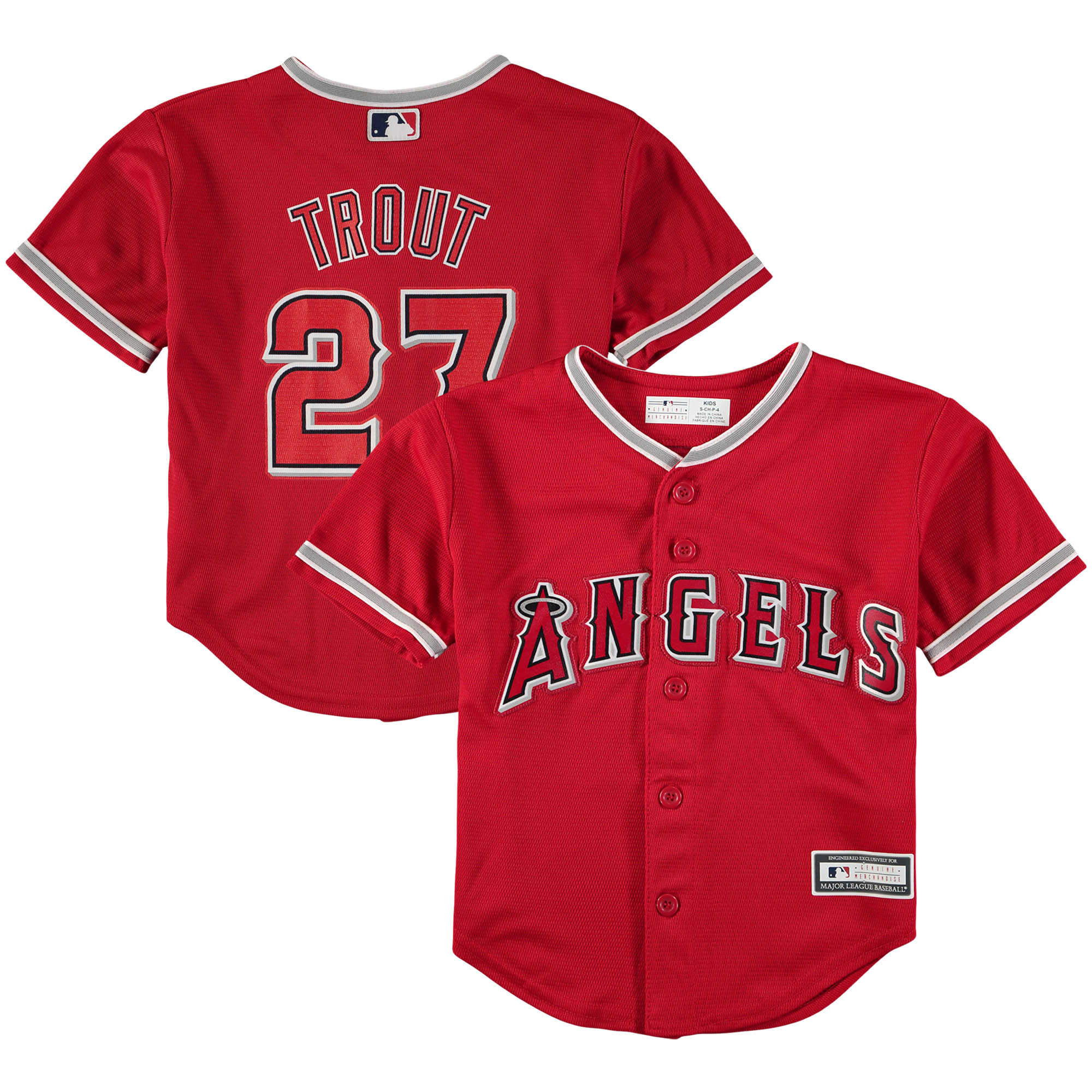 Mike Trout Los Angeles Angels Preschool Replica Player Jersey - Red