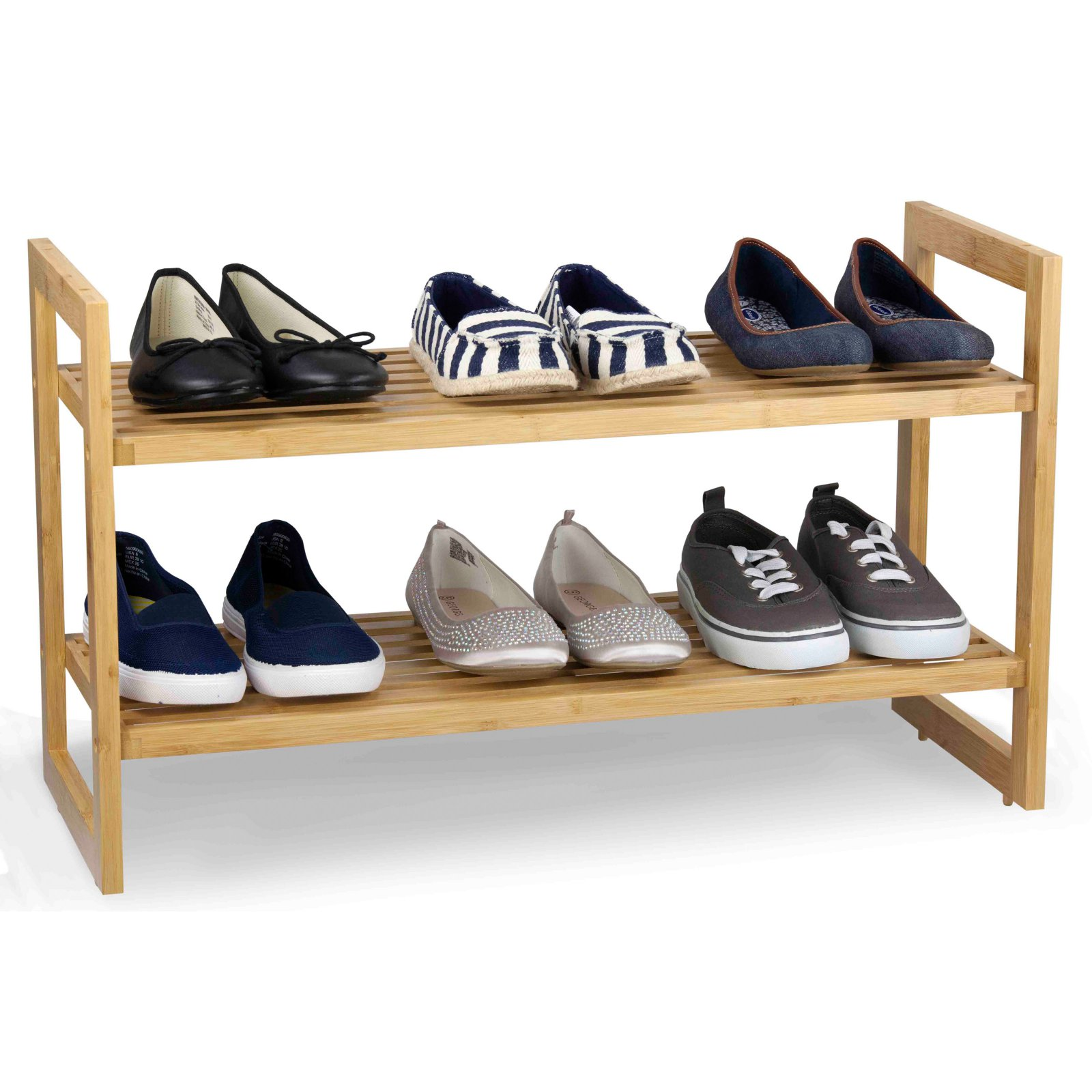 Sunbeam 2-Tier Bamboo Shoe Rack