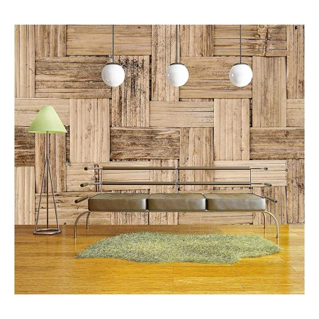 wall26 - Thai Bamboo Weaving Texture - Removable Wall Mural   Self-Adhesive Large Wallpaper - 66x96 inches