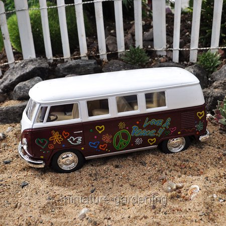 Vw Bus Accelerator - Markwest: Just for Laughs VW Disco Bus, Color Options for Miniature Garden, Fairy Garden