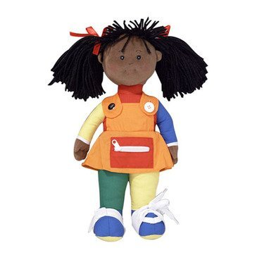 Learn to Dress African American Girl (Poly Bag) by Children's Factory