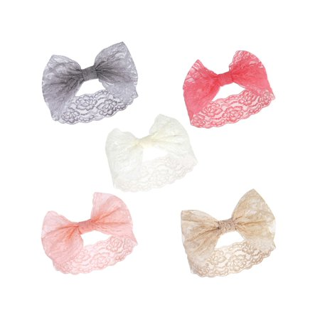 Lace Headbands 5Pk (Baby Girls)
