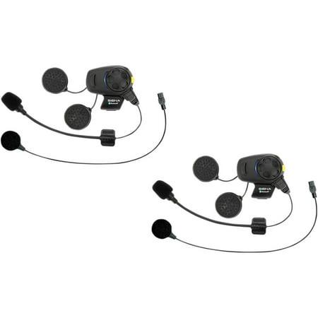 SENA SMH5D-FM-UNIV SMH5 Bluetooth Headset & Intercom with Built-in FM Tuner and Universal Microphone Kit - Dual Unit