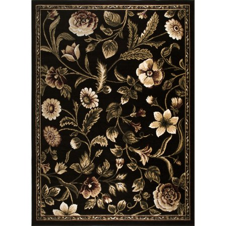 home dynamix optimum collection floral area rug for modern home decor. Black Bedroom Furniture Sets. Home Design Ideas