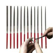 12 Pcs Needle File Set 140mm X 3mm Cut 2 Jewelry Beading Hobby Crafts Metal Tool
