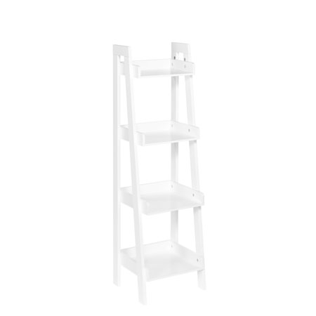 RiverRidge 4-Tier Ladder Shelf - White