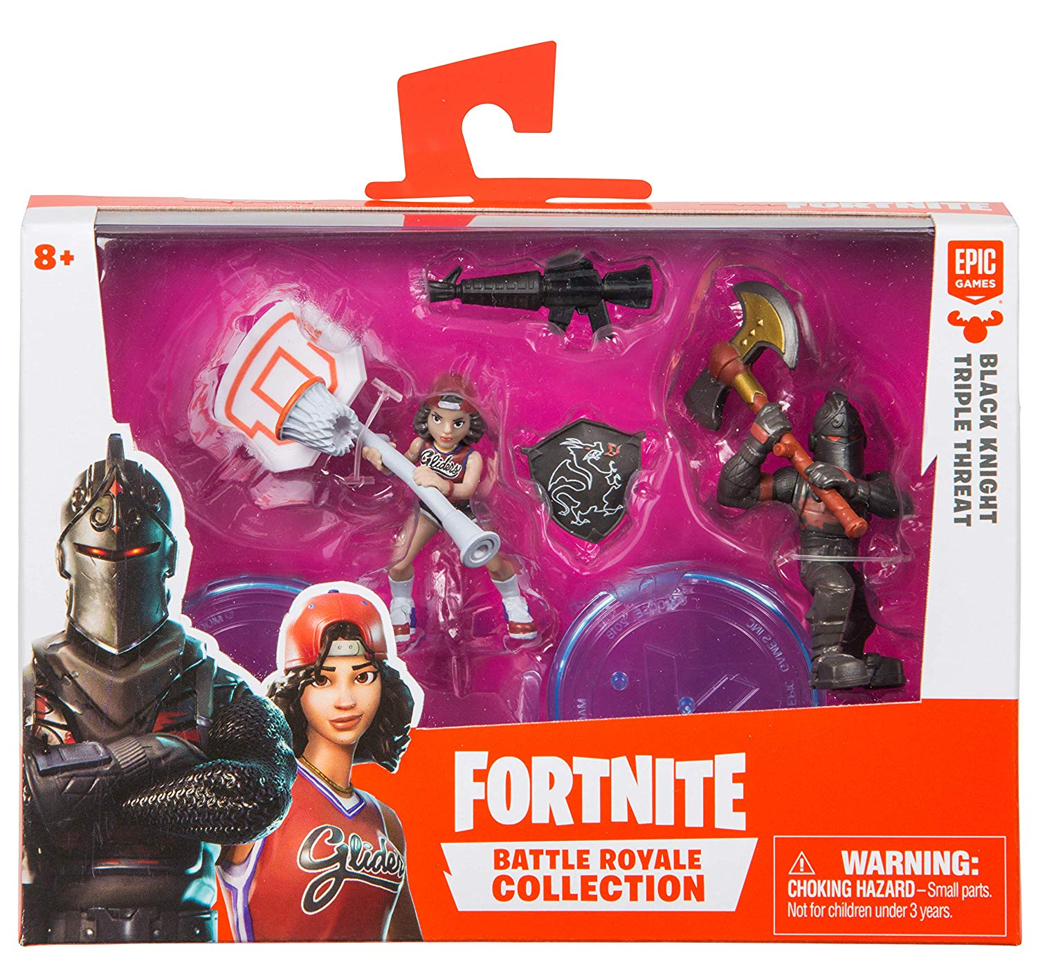 """Fortnite Battle Royale Collection Black Knight & Triple Threat Set of 2 Action Figures - 2"""""""