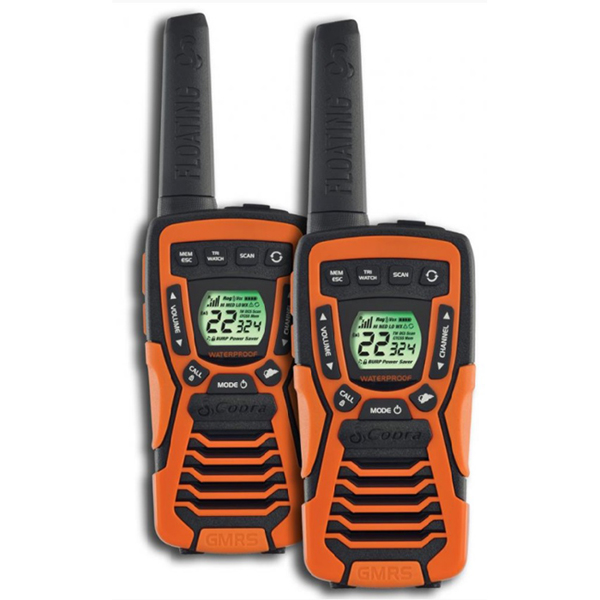 Refurbished Cobra CXT1035R-FLT 37-Mile Floating Walkie Talkies Rechargeable Waterproof 2/pk