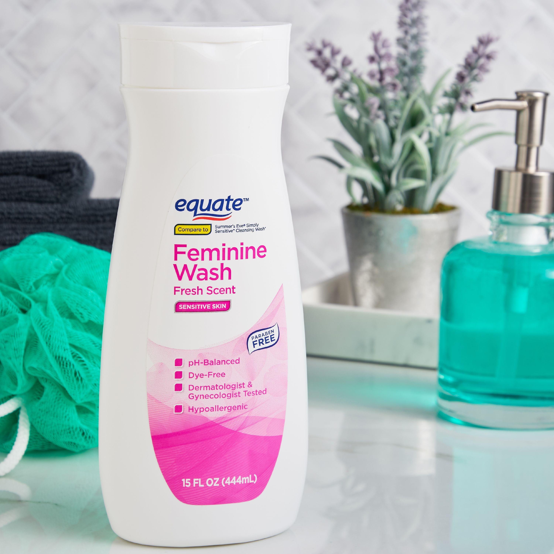 Equate Sensitive Skin Feminine Wash, Fresh Scent, 15 fl oz