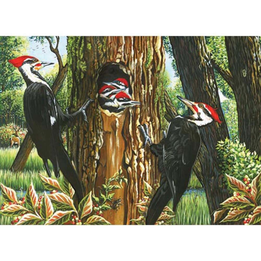 Cobble Hill Pileated Woodpeckers Jigsaw Puzzle