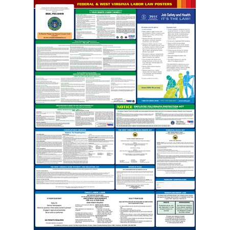 Compliance Assistance: 2018 West Virginia State and Federal All-In-One Labor Law Poster- Up to Date, Thick Lamination, Compact, OSHA - Virginia Halloween Laws