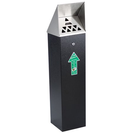 - No Butts Bin Co. Hooded Top Tower Outdoor Ashtray