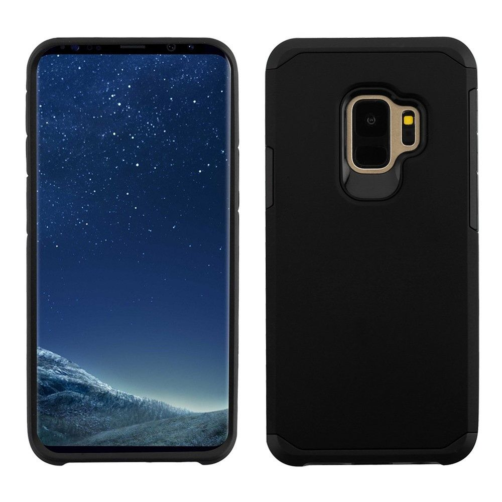 Insten Astronoot Dual Layer Hybrid PC/TPU Rubber Case Cover For Samsung Galaxy S9 - Black (Bundle with USB Type C Cable) - image 3 of 3