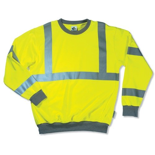 ERGODYNE 21675 GLOWEAR 8397 SWEAT SHIRTLIME  XL