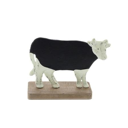 Fir Wood (Decmode Farmhouse 6 X 9 Inch Distressed Metal And Fir Wood Cow Chalkboard, Black)