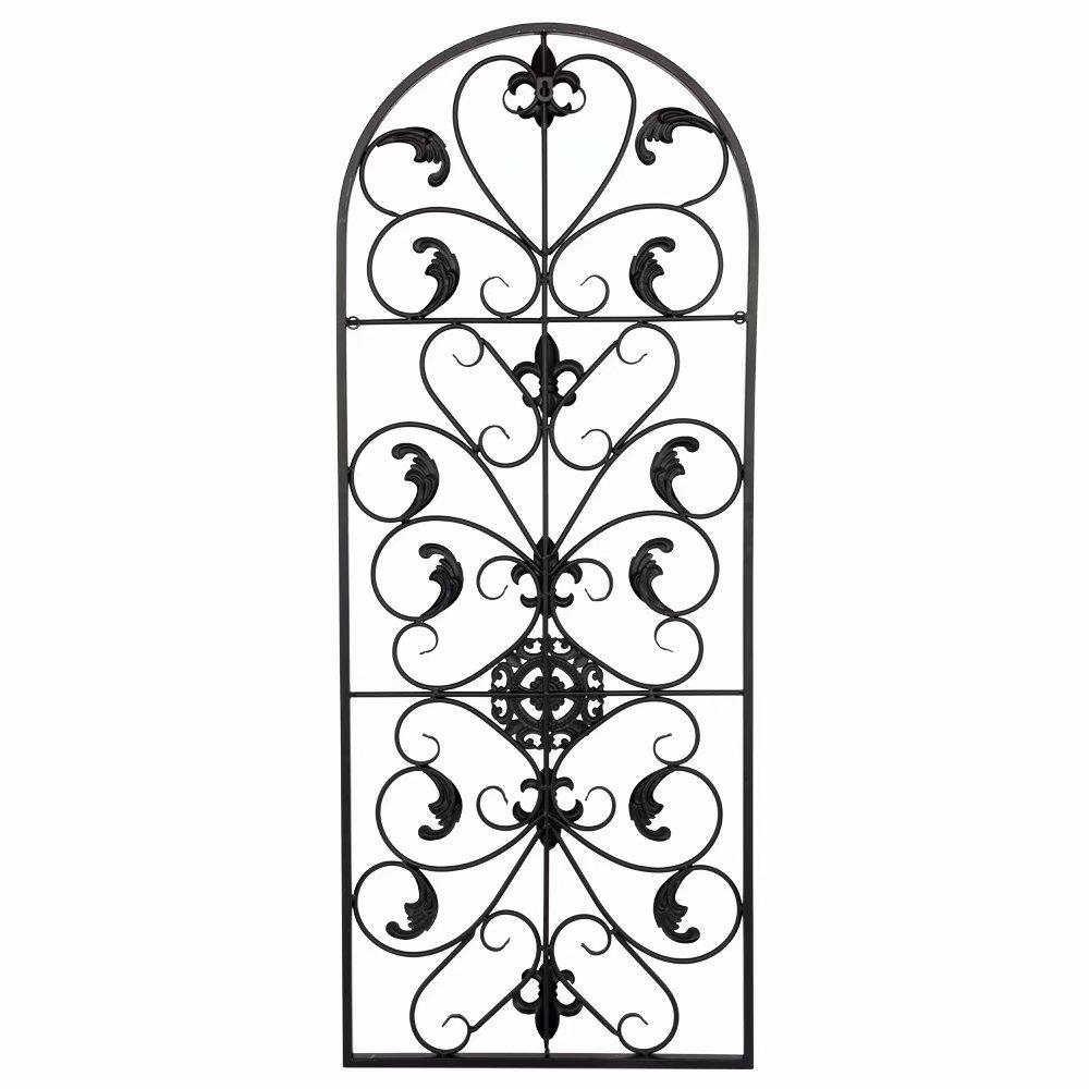 "41.5"" Semi-Circular Retro Decorative Spanish Arch Wall Art Victorian Style Iron Ornament for Indoor Outdoor Wall Decor"