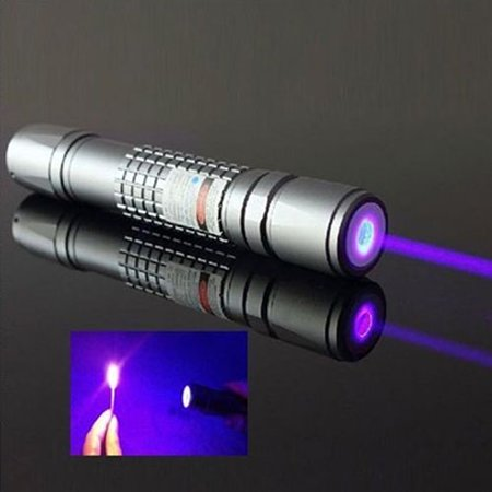 ZeAofa High Power Blue Purple Laser Pointer Burning Light Beam Pen Battery Charger