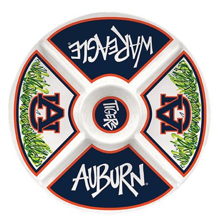 Collegiate Melamine Veggie Tray (Auburn Tigers) by, By Magnolia Lane - Halloween Veggie Trays