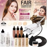 Belloccio Professional BEAUTY DELUXE Airbrush Cosmetic Makeup System with 4 FAIR Shades of Foundation