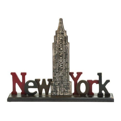 Woodland Imports D cor New York Tourist Empire State Building Table Letter Block