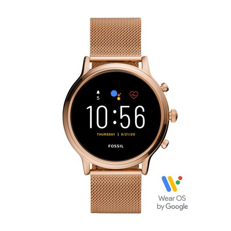 Fossil Gen 5 Julianna HR Smartwatch - Rose Stainless Steel Mesh - Powered with Wear OS by