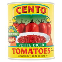 (4 Pack) Cento Petite Diced Tomatoes In Puree, 28 Oz