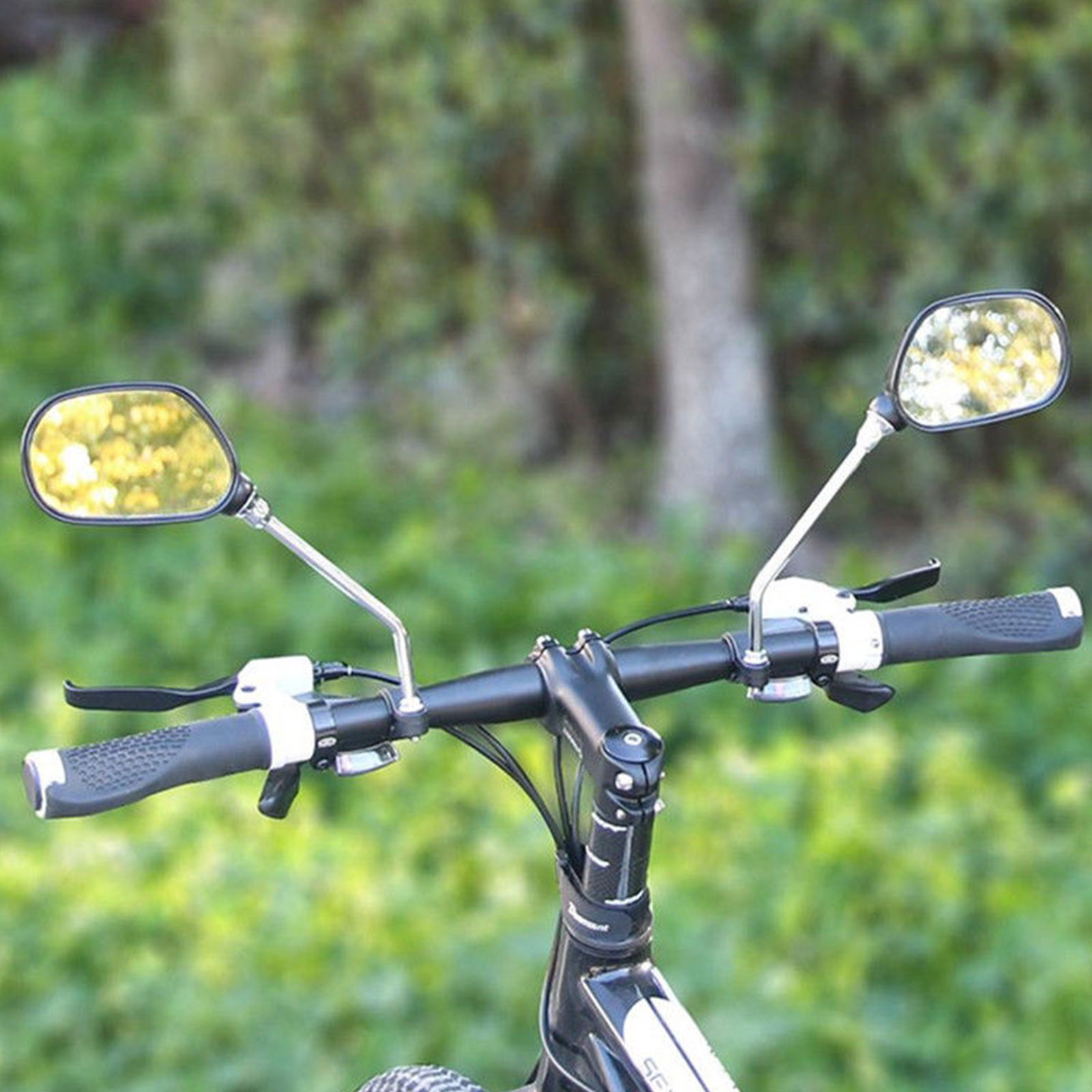 DEWIN Bicycle Rear View Mirror Flexible Bike Handlebar Rear View Mirror with Rotatable Angle Side Mirror for Bicycle