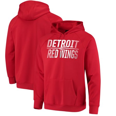 Tomas Holmstrom Detroit Red Wings - Detroit Red Wings Fanatics Branded Overtime Raglan Pullover Hoodie - Red