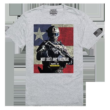 RapidDominance TS1-777-H08-02 Not Just Any Tactical Tactical Graphics Tee, Heather Grey- Medium - image 1 of 1