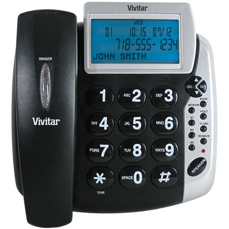 Talking Caller ID Phone - Extra-Loud Receiver & Ringer Volume, Ultra-Bright