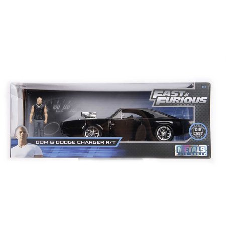 Dodge Charger R/T Black with Dom Diecast Figure