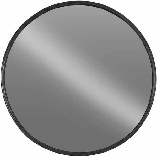 Urban Trends Collection: Metal Wall Mirror, Tarnished Finish, Black by Urban Trends Collection